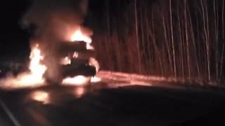 автокран Либхер сгорел в ХМАО