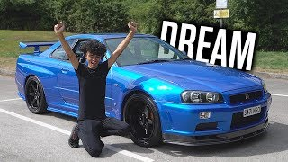 My New NISSAN SKYLINE GTR R34!!