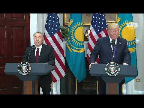 President Trump Participates in Joint Press Statements with President Nursultan Nazarbayev