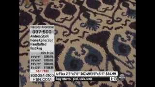Andrea Stark Home Collection Ikat Siam Beige Rug