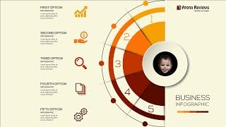 HOW TO MAKE AN ORANGE COLOR INFOGRAPHIC DESIGN TEMPLATE - Illustrator Cc Tutorial