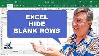 "Learn Excel - ""Hide Blank Rows Without a Macro"" - Podcast #1736"