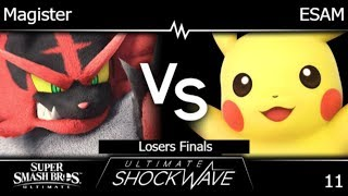 USW 11 - HNTI | Magister (Incineroar) vs PG | ESAM (Pikachu) Losers Finals - SSBU
