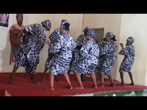 Yoruba dancers in their traditional wears