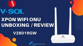 VSOL V2801RGW xPON ONT/ONU UNBOXING REVIEW ⚡⚡ | URDU HINDI |