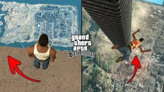 Jumping Off The Tallest Tower In GTA San Andreas! (Height 3500 Meters)