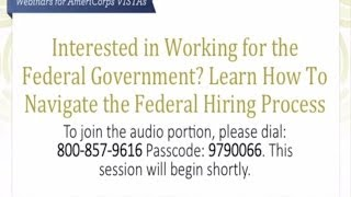 Interested in Working for the Federal Government?  Learn how to navigate the federal hiring process.
