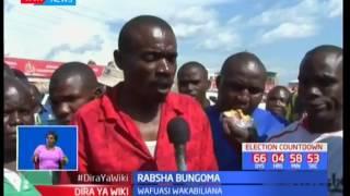 Mtu mmoja auwawa mjini Bungoma baada ya rabsha kuibuka kutokana na wafuasi wa Kenneth Lusaka kupigan