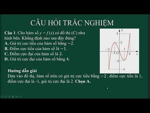 Ôn thi THPT QG môn Toán, chủ đề: Cực trị của hàm số