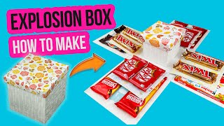 Chocolate Explosion Box Tutorial | Gift Idea | How To Make Explosion BOX