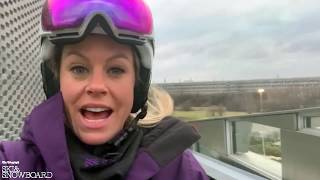 video: Is this the future of eco-friendly skiing? Chemmy Alcott takes to the slopes on the roof of a green power plant
