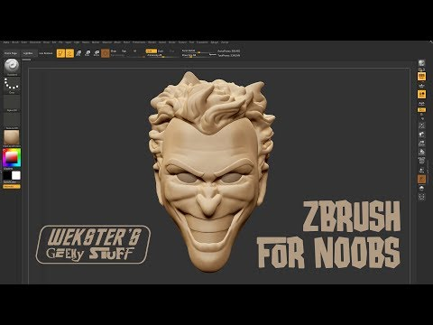 zbrush sculpture tutorials for beginners by wekster's geeky stuff