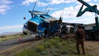 DAS car hauler flipped over in Arizona