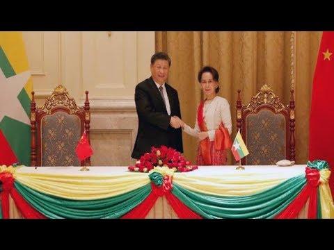 রোহিঙ্গা ইস্যুতে কোনঠাসা পরিস্থিতিতেও চীন-মিয়ানমার ৩৩টি চুক্তি
