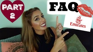 FAQ-PART 2 ✈ EMIRATES  Cabin Crew | Yas & Nab