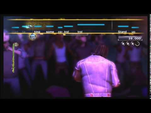 Video game shower scene
