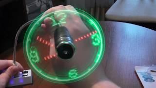 Прикольные USB вентиляторы с часами и рисунком  - покупка на Алиэкспресс