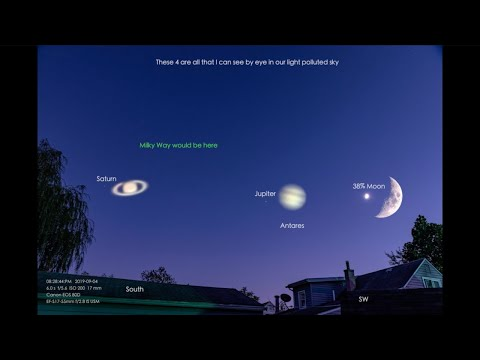 The Moon & 2 Planets - a Ruckus Out Front & the PoPo Arrive