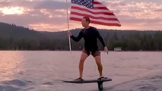 video: Mark Zuckerberg goes viral after sharing July 4 hydrofoiling video