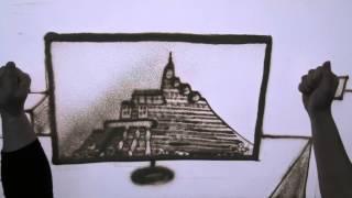 4Kサンドアート映像DELL社内イベントSandartSandanimation