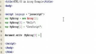 HTML & JavaScript - How to create A Simple Array - Tutorial - Roylyn Andrews
