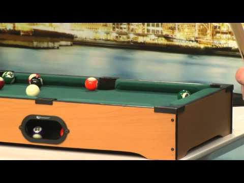 Playtastic Mini Billardtisch mit 2 Queues & 16 Kugeln