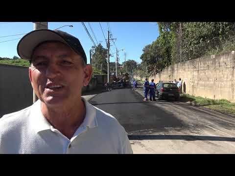 Prefeito Ayres Scorsatto faz Pavimentação asfáltica na Rua dos Camirangas no distrito dos Barnabés