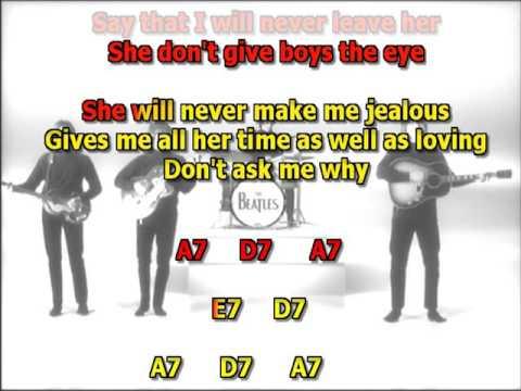 She's A Woman Beatles best karaoke instrumental lyrics chords cover