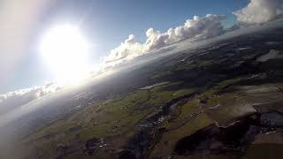 Volantex Ranger g2 FPV plane gets lost, full flight and landing with crazy drum + Bass mash up mix