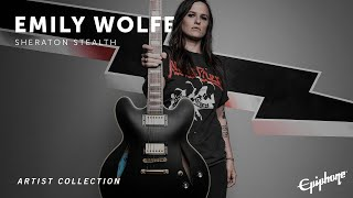 Epiphone Emily Wolfe Sheraton Stealth Video