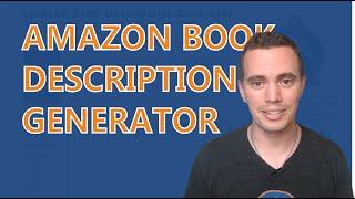 Amazon Book Description Generator
