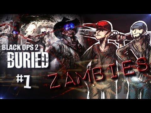 Black Ops 2 Zombies: Buried Vengence DLC w/ Nova Sp00n & Kootra Ep  14 \