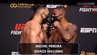 UFC Fight Night 183 full fight card faceoffs: Michel Pereira makes grand entrance