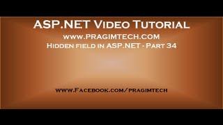 Hidden field in asp.net   Part 34
