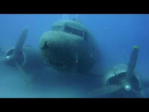 DC-3, Flugzeugwrack DC-3,Kas,Türkei