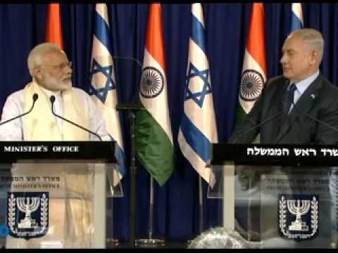 PM Modi and Israeli PM Netanyah at Joint Press Statements in Jerusalem, Israel