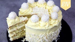 Raffaello Layer Cake Recipe (White Chocolate, Coconut) || Williams Kitchen
