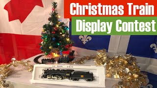 Christmas Train Display Contest - Chance to Win a Mehano Locomotive