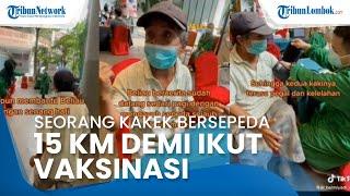 Kisah Kakek Safar asal Makassar, Rela Pinjam Sepeda dan Bersepeda 15 Km demi Ikut Vaksinasi