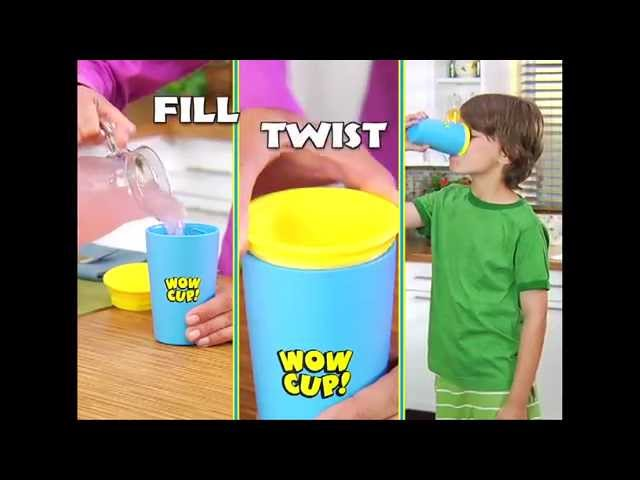Wow Cup for Kids - Innovative 360 Spill Free Drink