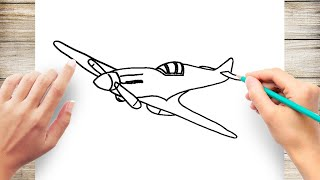 How To Draw A World War 2 Plane Easy म फ त ऑनल इन