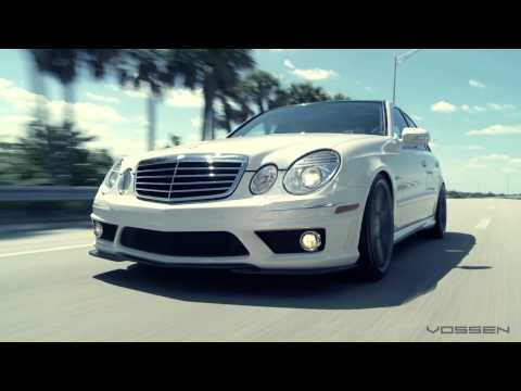 "Mercedes Benz E63 AMG on 20"" Vossen VVS-CV3 Concave Wheels / Rims"