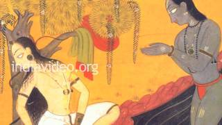 Morning Ablutions- Pahari painting in Basohli Kalam
