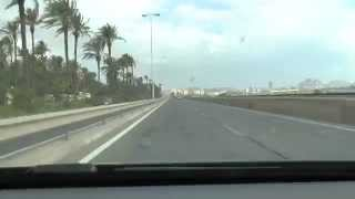 preview picture of video 'From Alicante-Airport to Downtown Alicante - Timelapse 10x (HD)'