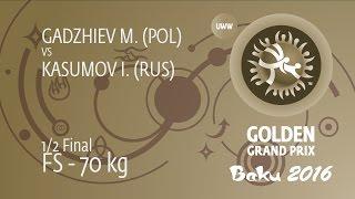 1/2 FS - 70 kg: I. KASUMOV (RUS) df. M. GADZHIEV (POL), 6-1