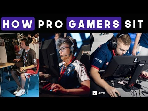 The Sitting Styles of Professional Gamers