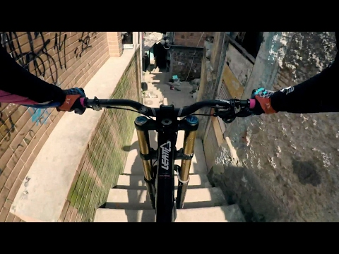 Steep Urban Mountain Biking Down a Rio Favela | Filip Polc's POV