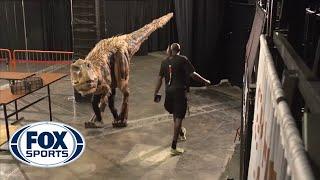 Halloween dinosaur shocks Suns