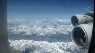 Emirates A380 over Himalaya / Tibet