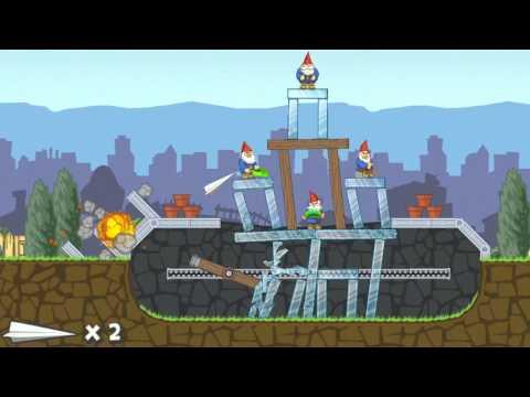 Video of Paper Glider vs. Gnomes